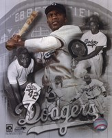 Jackie Robinson Legends Composite Fine Art Print