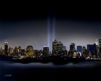 Towers of Light (NYC) - September 11 Tribute Framed Print