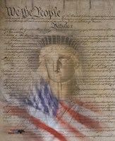 Flag/Constitution Collage Fine Art Print