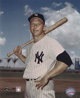 Mickey Mantle - #6 Posed with Bat Fine Art Print