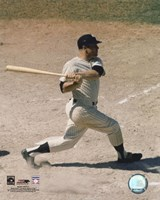 Mickey Mantle - #5 Batting Fine Art Print