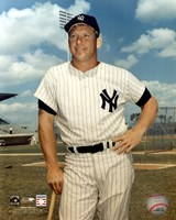 Mickey Mantle - #1 Leaning on Bat Fine Art Print
