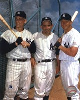 Roger Maris, Yogi Berra, and Mickey Mantle Fine Art Print