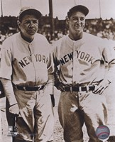 Babe Ruth and Lou Gehrig Framed Print