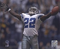Emmitt Smith - All-Time Rushing Yard Leader - #2 Celebration Fine Art Print
