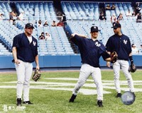 Jason Giambi / Jorge Posada / Derek Jeter - Game Preparation Fine Art Print