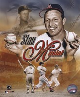 Stan Musial - Legends Composite Fine Art Print