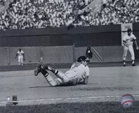 Brooks Robinson - Diving catch, sepia Fine Art Print