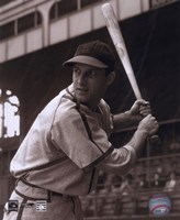 Stan Musial -Batting stance, posed sepia Framed Print