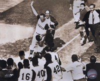 Bill Mazeroski - 1960 World Series Winning Home Run, sepia Fine Art Print