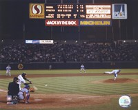 Nolan Ryan - 6th No Hitter (Last Pitch) Fine Art Print