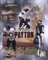 "Walter Payton ""Legends"" Composite Framed Print"