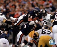 Walter Payton - Action, airbound Fine Art Print