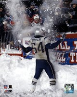 Tedy Bruschi - Snow Game 12/7/03 Framed Print