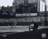 Don Larsen - Perfect Game - 1st Pitch Framed Print