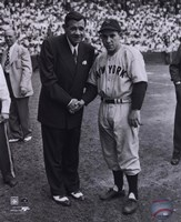 Babe Ruth/Yogi Berra Fine Art Print