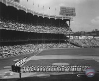 Yankee Stadium Left Field - 1955 World Series Opening Game Fine Art Print