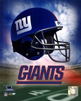 N.Y. Giants Helmet Logo Framed Print