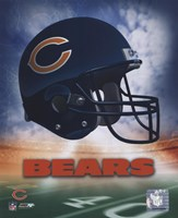 Chicago Bears Helmet Logo Fine Art Print