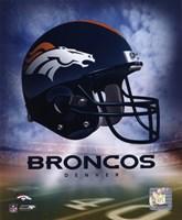Denver Broncos Helmet Logo Framed Print