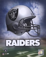 Oakland Raiders Helmet Logo Framed Print