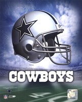 Dallas Cowboys Helmet Logo Framed Print