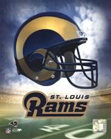 St. Louis Rams Helmet Logo Framed Print