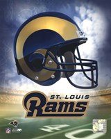 St. Louis Rams Helmet Logo Fine Art Print
