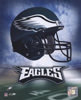 Philadelphia Eagles Helmet Logo Framed Print