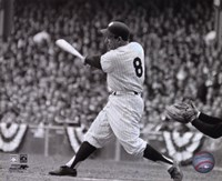 Yogi Berra - batting action/B&W Fine Art Print