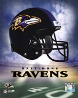 Ravens Helmet Logo ('04) Framed Print
