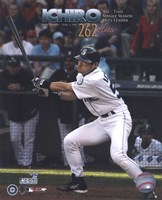 Ichiro Suzuki - All Time Single Season Hits Leader at 262 Hits Fine Art Print