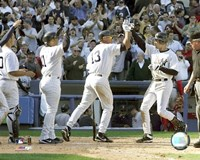 Derek Jeter - 2005 Opening Day Game Winning  Home Run Fine Art Print