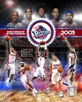 2005 Pistons - Eastern Conference Championship Composite Fine Art Print