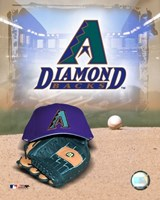 Arizona Diamondbacks - '05 Logo / Cap and Glove Fine Art Print