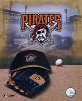 Pittsburgh Pirates - '05 Logo / Cap and Glove Fine Art Print