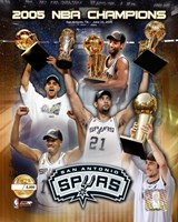 "'04 - '05 Spurs NBA Champions / Composite ""PF GOLD"" (Limited Edition) Fine Art Print"