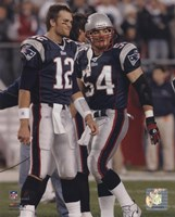 Tom Brady / Tedy Bruschi - Patriots '05 Return Fine Art Print