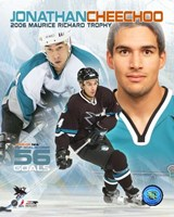 Jonathan Cheechoo - '06 Mourice Richard Trophy / Portrait Plus Fine Art Print
