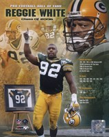 Reggie White - 2006 Hall Of Fame Composite Fine Art Print