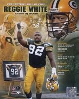 Reggie White - 2006 Hall Of Fame Composite Fine Art Print