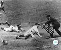 Babe Ruth - Sliding Into Home Fine Art Print