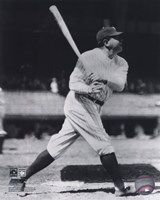 Babe Ruth - Batting Action On The Field Fine Art Print