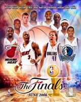 NBA - 2006 Finals Match-Up Heat Vs. Mavericks Fine Art Print