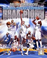 2006 -  Mavericks Western Conference Champions Composite Fine Art Print