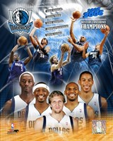 '05 / '06 Mavericks Western Conference Champions Composite Fine Art Print