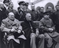 Winston Churchill, Franklin D. Roosevelt and Joseph Stalin at Yalta in 1945. (#6) Fine Art Print