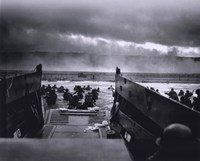 The Morning of June 6, 1944 (D-Day) at Omaha Beach (#1) Fine Art Print