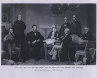 President Lincoln First Reading of the Emancipation Proclamation (#4) Fine Art Print
