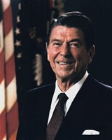Official Portrait of President Ronald Reagan (#9) Fine Art Print